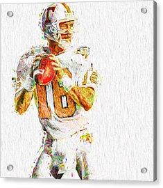 Peyton Manning Nfl Football Painting Tv Acrylic Print