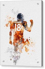 Peyton Manning Acrylic Print by Rebecca Jenkins