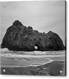Pfeiffer Beach II Bw Acrylic Print by David Gordon