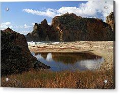 Pfeiffer Beach Landscape In Big Sur Acrylic Print by Pierre Leclerc Photography