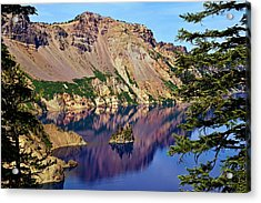 Phantom Ship In Crater Lake Acrylic Print