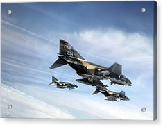 Phantom Strike Force Acrylic Print by Peter Chilelli