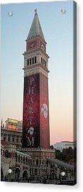Phantom Tower With Clear Sky Acrylic Print by Alan Espasandin