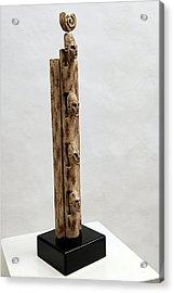 Pharaohs Iconic Cult - Ancestral Stela - Egypt - Egyptian - Pharaohs - Helga Pohlen  Acrylic Print by Urft Valley Art