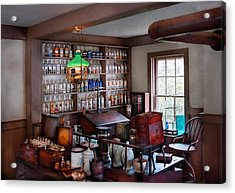 Pharmacist - Pharmacist From The 1880's  Acrylic Print by Mike Savad