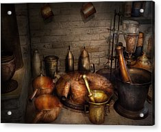 Pharmacy - Alchemist's Kitchen Acrylic Print by Mike Savad