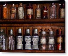 Pharmacy - Bonafide Cures Acrylic Print by Mike Savad