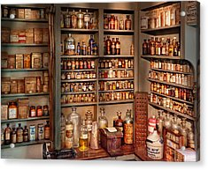 Pharmacy - Get Me That Bottle On The Second Shelf Acrylic Print by Mike Savad