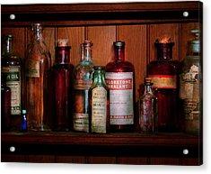 Pharmacy -  Oils And Inhalants Acrylic Print by Mike Savad