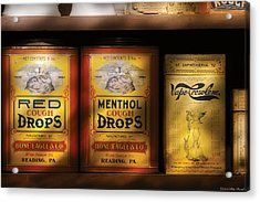 Pharmacy - Cough Drops Acrylic Print by Mike Savad