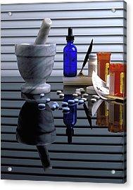 Pharmacy  Acrylic Print by Marie Hicks