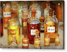 Pharmacy - Serums And Elixirs Acrylic Print by Mike Savad