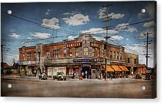 Acrylic Print featuring the photograph Pharmacy - The Corner Drugstore 1910 by Mike Savad