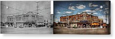 Acrylic Print featuring the photograph Pharmacy - The Corner Drugstore 1910 - Side By Side by Mike Savad