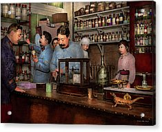 Acrylic Print featuring the photograph Pharmacy - The Dispensing Chemist 1918 by Mike Savad