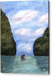 Phi Phi Islands Acrylic Print by Monika Deo