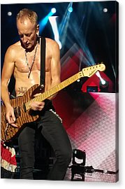 Phil Collen Of Def Leppard 2 Acrylic Print by David Patterson