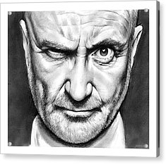Phil Collins Acrylic Print
