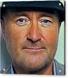 Phil Collins Portrait Genesis 11 Acrylic Print