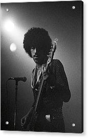 Phil Lynott Acrylic Print by Sue Arber