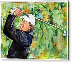 Phil Mickelson Acrylic Print by Dave Olsen
