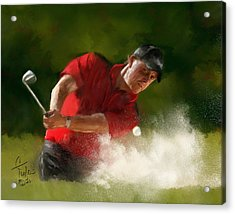 Phil Mickelson - Lefty In Action Acrylic Print