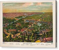 Philadelphia 1876 Acrylic Print by Bill Cannon