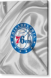 Philadelphia 76ers Acrylic Print by Afterdarkness