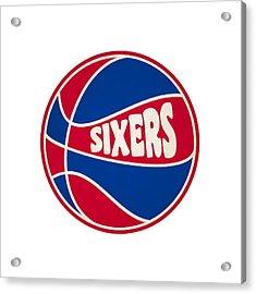 Philadelphia 76ers Retro Shirt Acrylic Print by Joe Hamilton