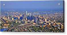 Acrylic Print featuring the photograph Philadelphia Aerial  by Duncan Pearson