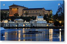 Philadelphia Art Museum And Fairmount Water Works Acrylic Print