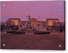 Philadelphia Art Museum At Dusk Acrylic Print by Kenneth Garrett