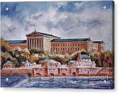 Philadelphia Art Museum Acrylic Print by Joyce A Guariglia