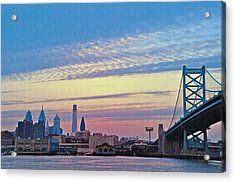 Philadelphia At Dawn Acrylic Print by Bill Cannon