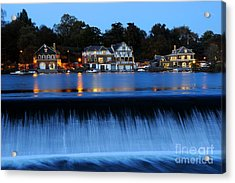 Philadelphia Boathouse Row At Twilight Acrylic Print
