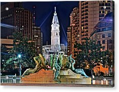 Philadelphia City Hall Acrylic Print by Frozen in Time Fine Art Photography