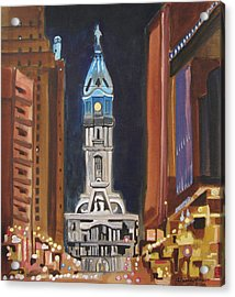 Philadelphia City Hall Acrylic Print
