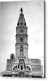 Philadelphia City Hall Tower Acrylic Print