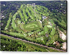 Philadelphia Cricket Club Militia Hill Golf Course Holes 3 4 5 6 7 8 And 9 Acrylic Print by Duncan Pearson