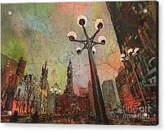 Philadelphia Downtown Sunrise Acrylic Print by Ryan Fox