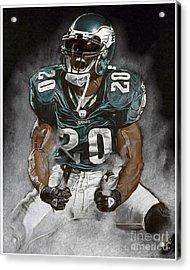 Philadelphia Eagles Brian Dawkins The Legend Acrylic Print by Jordan Spector