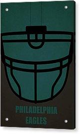 Philadelphia Eagles Helmet Art Acrylic Print by Joe Hamilton