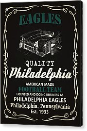 Philadelphia Eagles Whiskey Acrylic Print