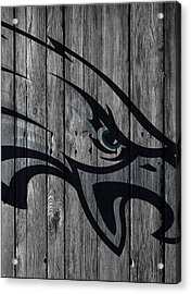 Philadelphia Eagles Wood Fence Acrylic Print