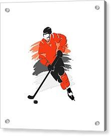 Philadelphia Flyers Player Shirt Acrylic Print by Joe Hamilton
