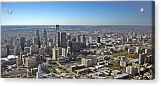 Philadelphia From North To South Acrylic Print by Duncan Pearson