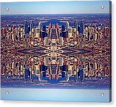 Philadelphia Geometric Collage Acrylic Print by Duncan Pearson