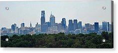 Philadelphia Green Skyline Acrylic Print by Ian  MacDonald