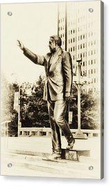 Philadelphia Mayor - Frank Rizzo Acrylic Print by Bill Cannon