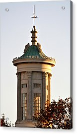 Philadelphia Merchant's Exchange Tower Acrylic Print by Christopher Woods